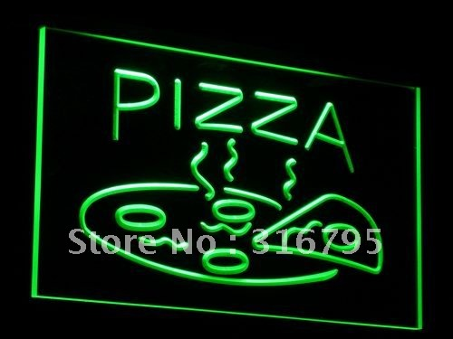 i004-g OPEN Hot Pizza Cafe Restaurant LED Neon Light Signs wholeselling Dropshipper(China (Mainland))
