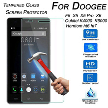 Buy 9H Tempered Glass Screen Protector Doogee F5 X5 X5 Pro X6 Oukitel K6000 K4000 Homtom Ht6 Ht7 Ht3 Pro Protector Film for $1.05 in AliExpress store