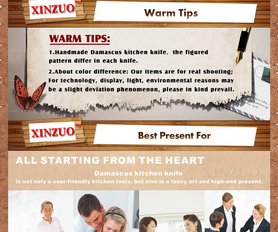 Buy XINZUO 3.5 inch paring knife 73 layers Japan Damascus kitchen knife sharp peeling fruit knife  Color wood handle free shipping cheap