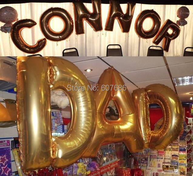 24 pieces wedding foil helium alphabet 40 inch large letter balloons inflatable a z in gold party