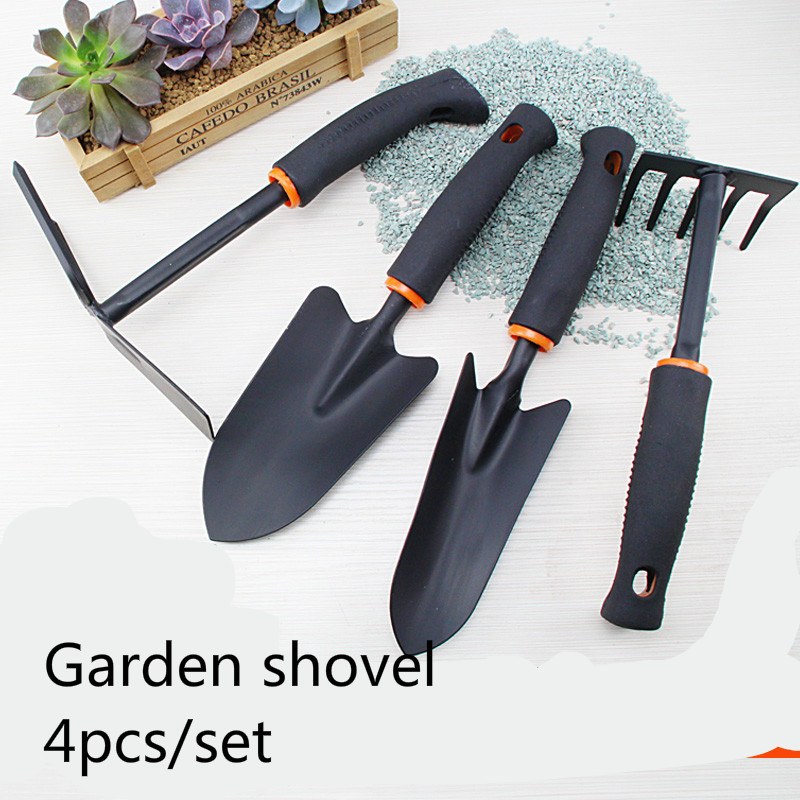 4pcs set gardening tools diy mini garden shovel dual claw for Gardening tools 4 letters