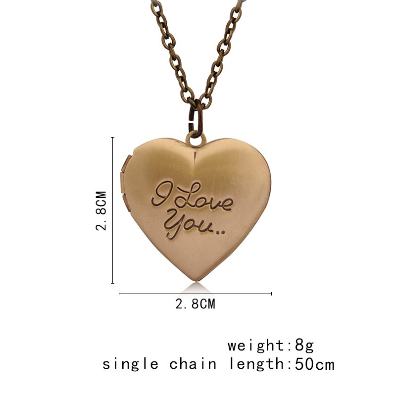 Vintage Gift For Lover Couples Custom Message Necklace Pendant