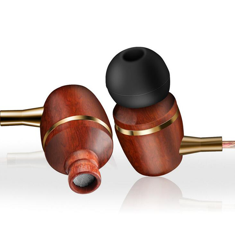 JS M200 Premium Genuine Wood Earphone 3.5mm Precision Bass Earphones with Mic Earbuds Drive-by-wire pk AWEI Q9 not for Xbox One(China (Mainland))