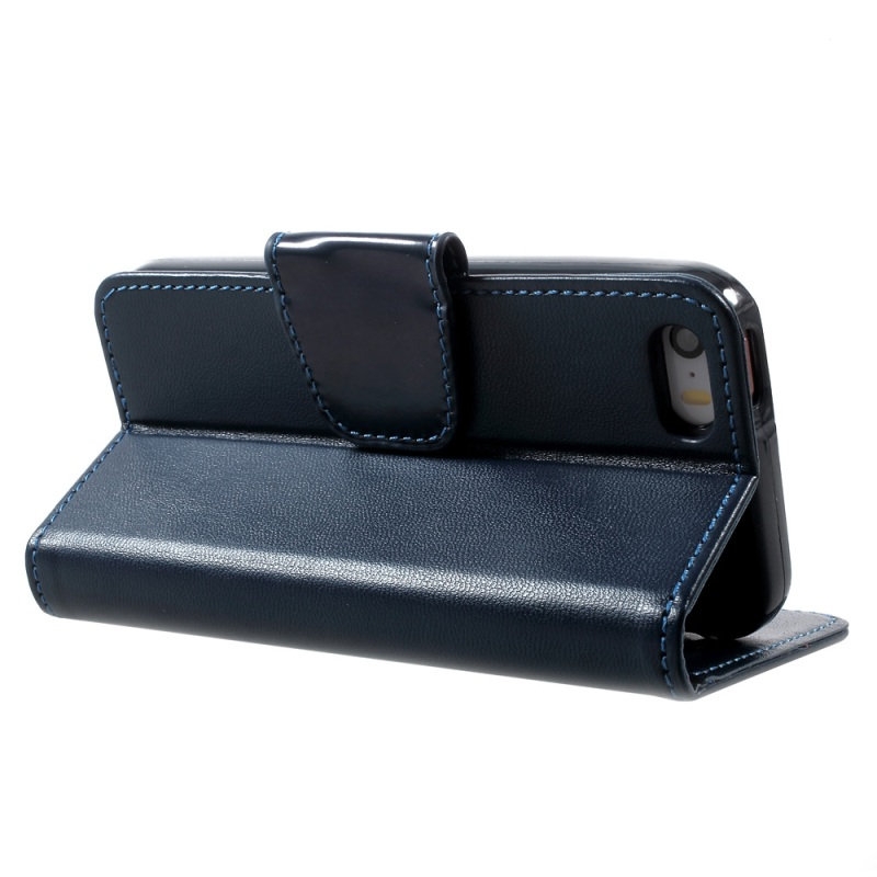 Case on for iPhone 5s Smartphone Cover/Shell for iPhone SE NEWSETS MERCURY Wallet Leather Case for iPhone SE 5s 5 – Dark Blue
