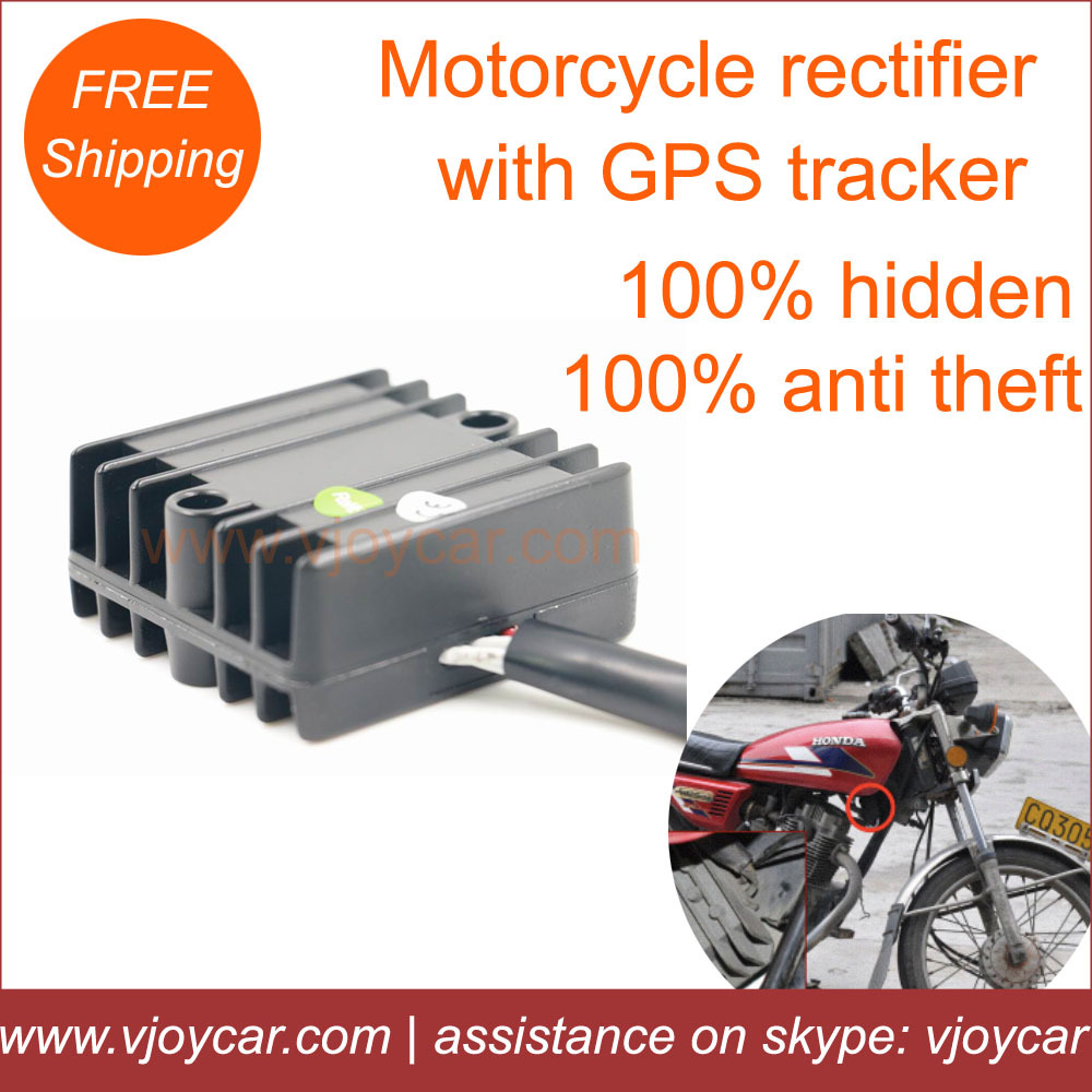 2014 latest design,China top quality gps tracker motorcycle hidden gps tracking chipset in the motorcycle rectifier!GSM alarm!(China (Mainland))