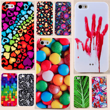 Hard Plastic Phone Cover for iPhone 5 5s SE Super Deal Colorful Candy Skull Printed Phone Back Case For Apple 5 5s Big Discount(China (Mainland))