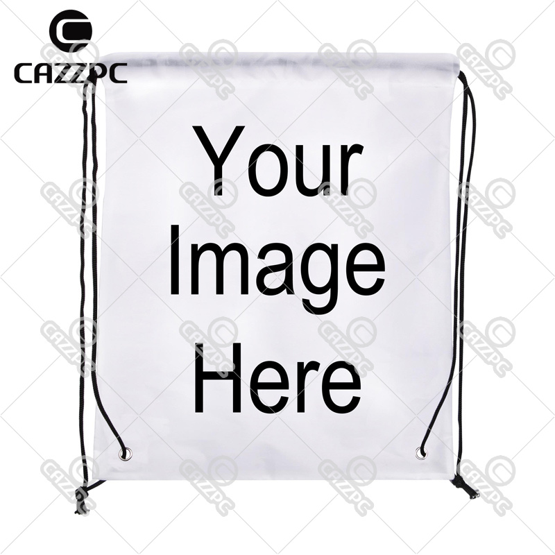 Your image photo Print Custom individual Nylon fabric Drawstring Bag Backpack gift Pack of 4