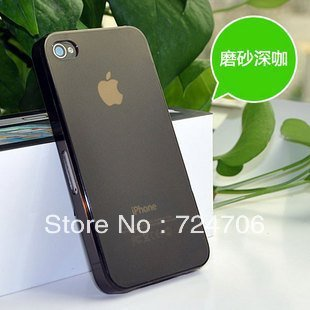 Wholesales Soft matte transparent case for iphone 4 4G 4S 0.5mm ultra thin crystal case