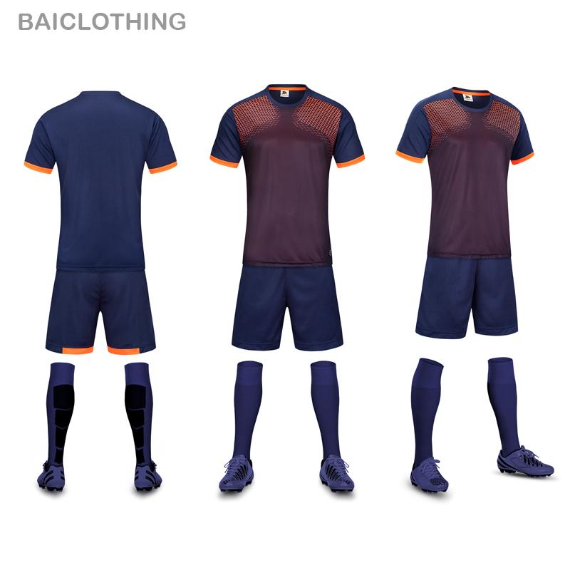 Free Shipping 2016 New Model Men's Soccer Jerseys Set Top Quality Breathable DIY Customized Name Team Logos Soccer Uniform Shirt(China (Mainland))