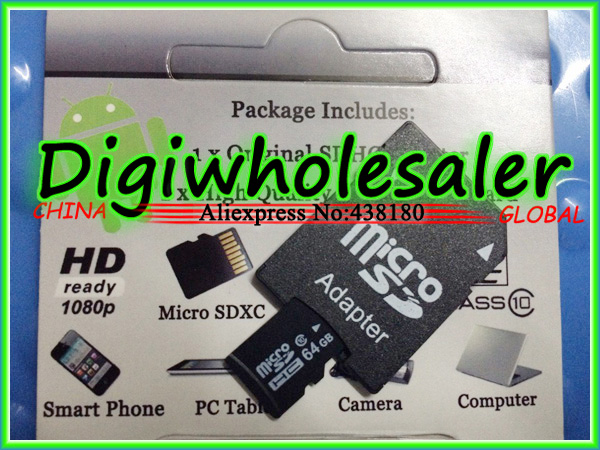 micro sd card 64gb class 10 8gb memory tf sd card 100pcs/lot 8gb microsd with adapter retail package(China (Mainland))