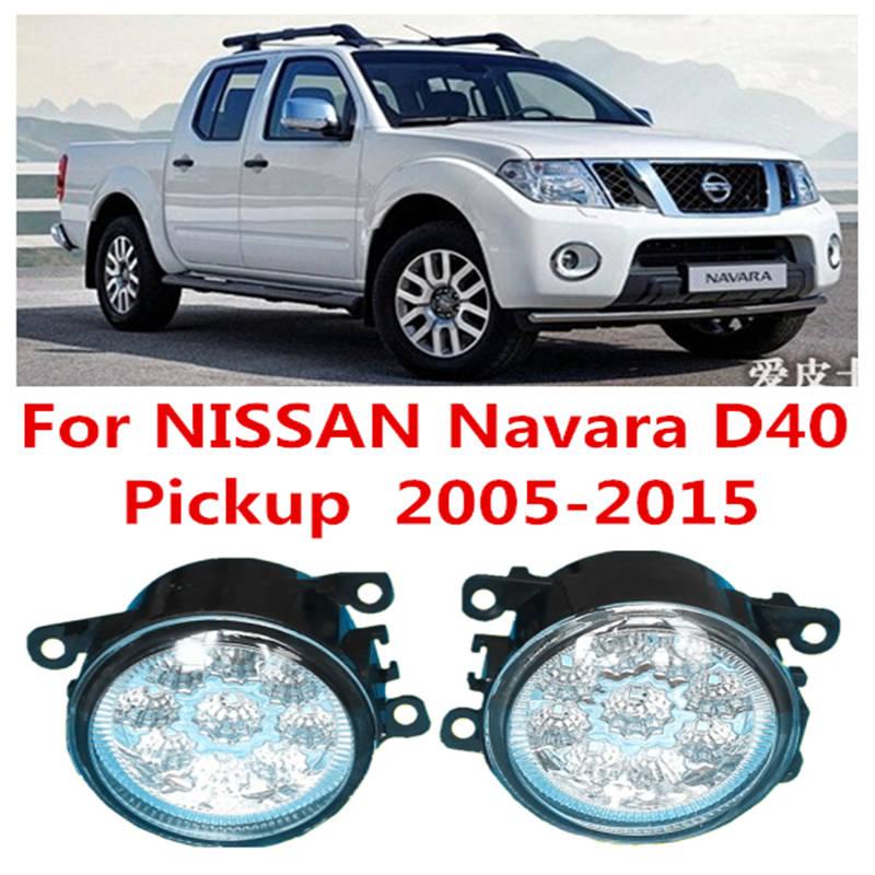 For NISSAN Navara D40 Pickup  2005-2015 Car LED DRL Daytime Running Lights Refit Blue White Yellow 12V<br><br>Aliexpress