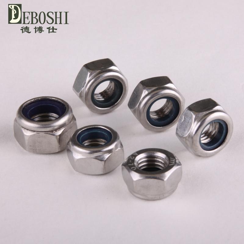 Special 304 stainless steel nylon locknuts / self-locking nut / locknut M6(China (Mainland))