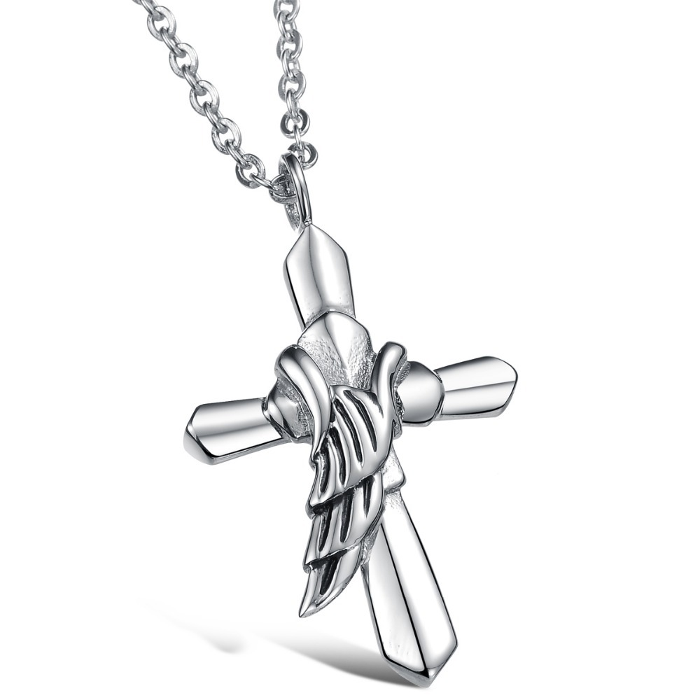 2015 Freeshipping Direct Selling Pendant Necklaces Link Chain Fashion Containing Titanium Steel Cross Necklace Gx899 - kiki fashion jewelry ( worldwide store)