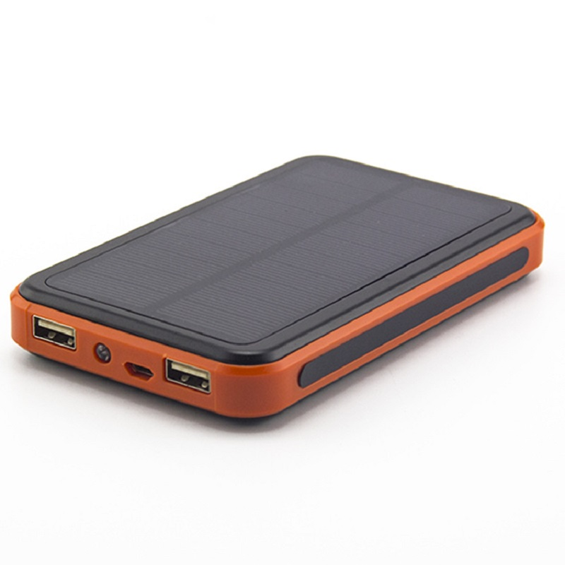 Portable Charger PowerCore Li-polymer Batter 10000mAh solar power bank dual USB External Battery Charger for iphone4s Powerbank(China (Mainland))