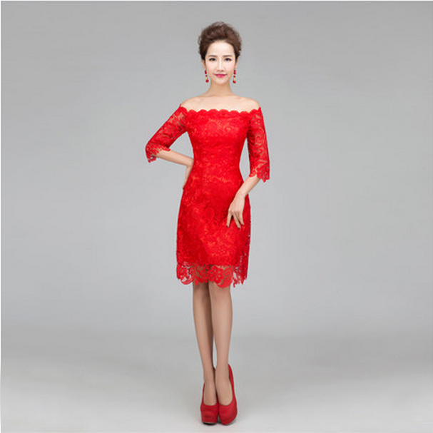 Red Semi Formal Dress Women Promotion-Shop for Promotional Red ...