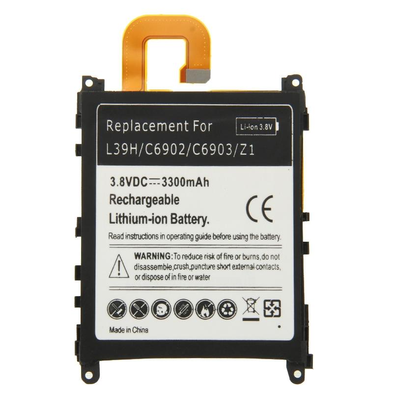 Гаджет  3300mAh Rechargeable Replacement Li-ion Battery for Sony Xperia Z1 / L39h / C6902 / C6903 Phone Battery None Электротехническое оборудование и материалы