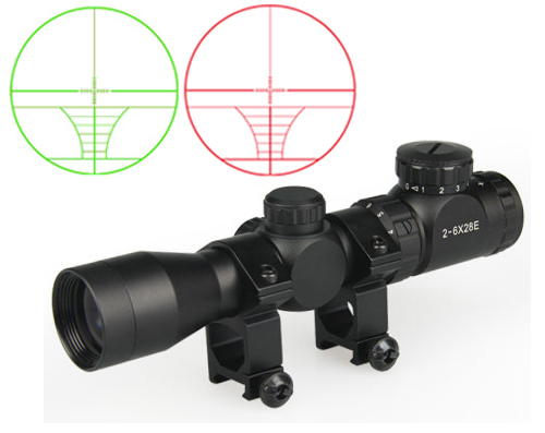 hot sale  airsoft tactical optical sight 2-6X28E rifle scope for hunting for shooting<br><br>Aliexpress