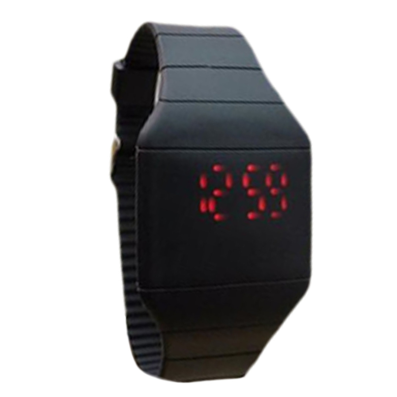 Fashion Classical Colorful Jelly Ultra Thin LED Silicone Sport Wrist Watch Top Quality 10 Colors