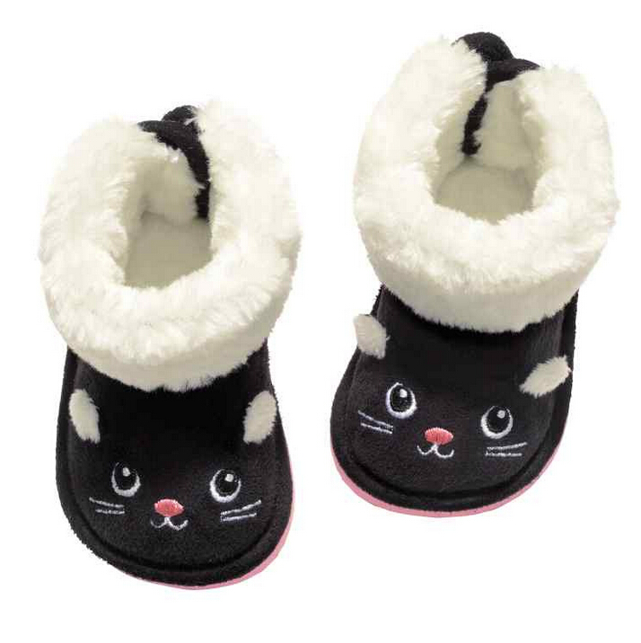 New style kids shoes boys girls boots cute cartoon cat snow boots girls winter boots boys warm cotton boys boots kids(China (Mainland))