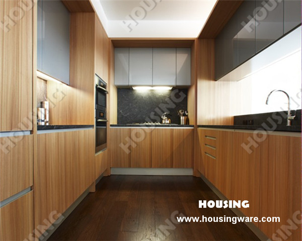 Modern style kitchen cabinet kitchen door finish timber for Veneer for kitchen cabinets
