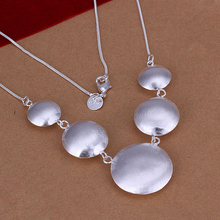 Christmas Gift,Fashion Chain Jewelry,925 silver gilr Women Circle pendant Necklace,Wholesale 925 silver Jewelry