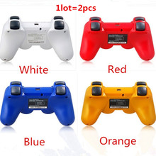 Envío de la alta calidad 2 unids game controller bluetooth inalámbrico para sony playstation 3 ps3 sixaxis controle joystick gamepad