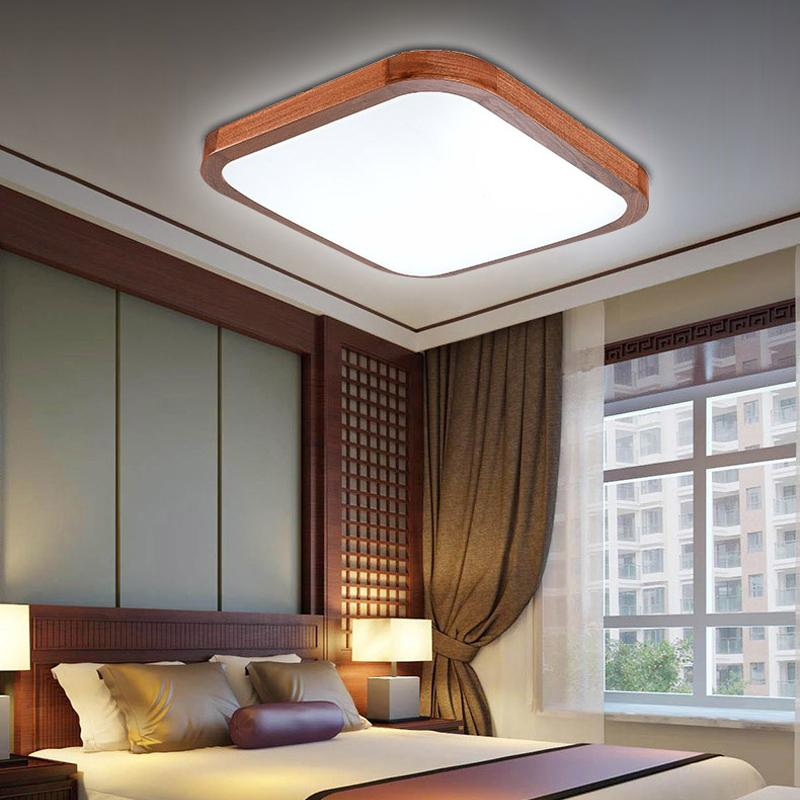 surface mounted ceiling lamp LED lamps bedroom living room lamp Chinese style wooden lighting lamparas<br><br>Aliexpress