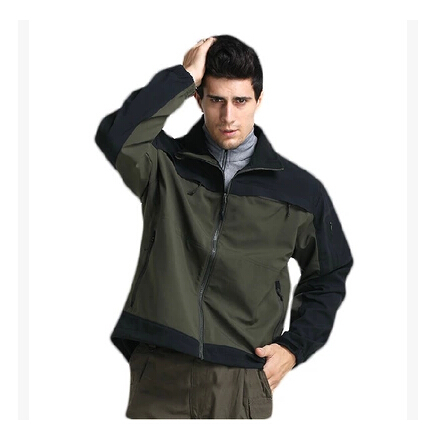 Military Quality Tactical Soft Shell Jackets SWAT Outdoor Waterproof Thermal Amry Jacket Male Special Force Military Style Coats(China (Mainland))