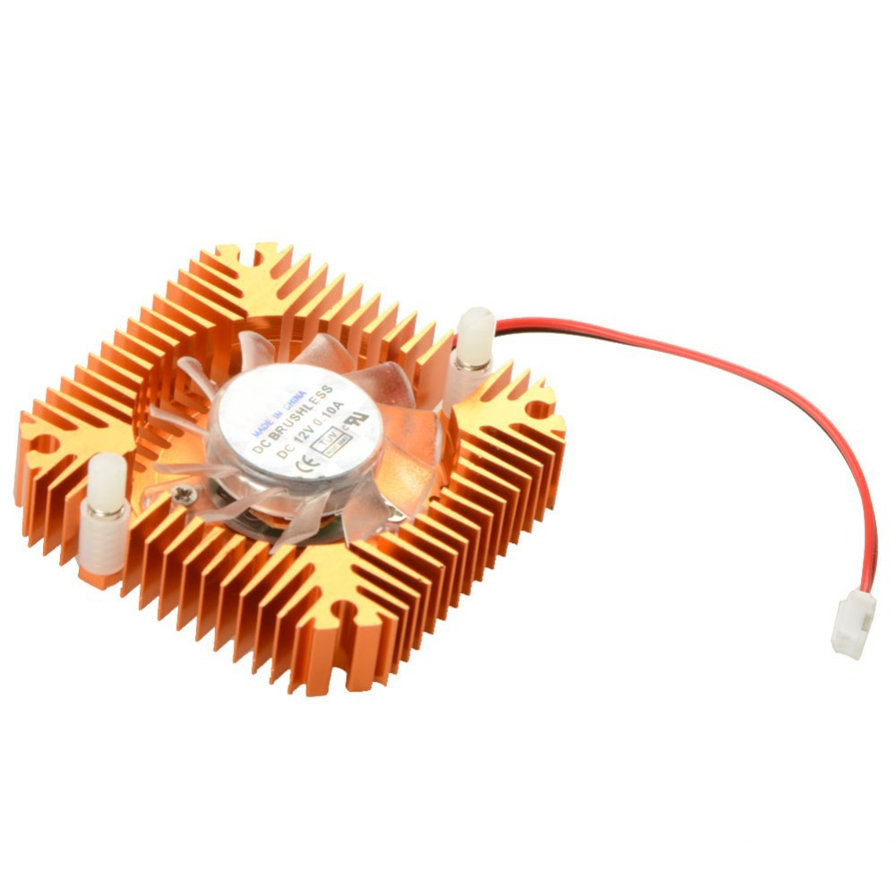 55mm 2 PIN Aluminum Snowhite Cooling Fan Heatsink Cooler Fit For PC Computer CPU VGA Video Card VC899 P18 0.3(China (Mainland))