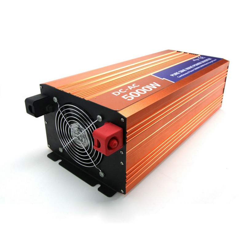 12VDC 5000W Off grid pure sine wave power inverter for wind energy system or solar energy system,Output 50Hz/60Hz, 120V/220VAC(China (Mainland))