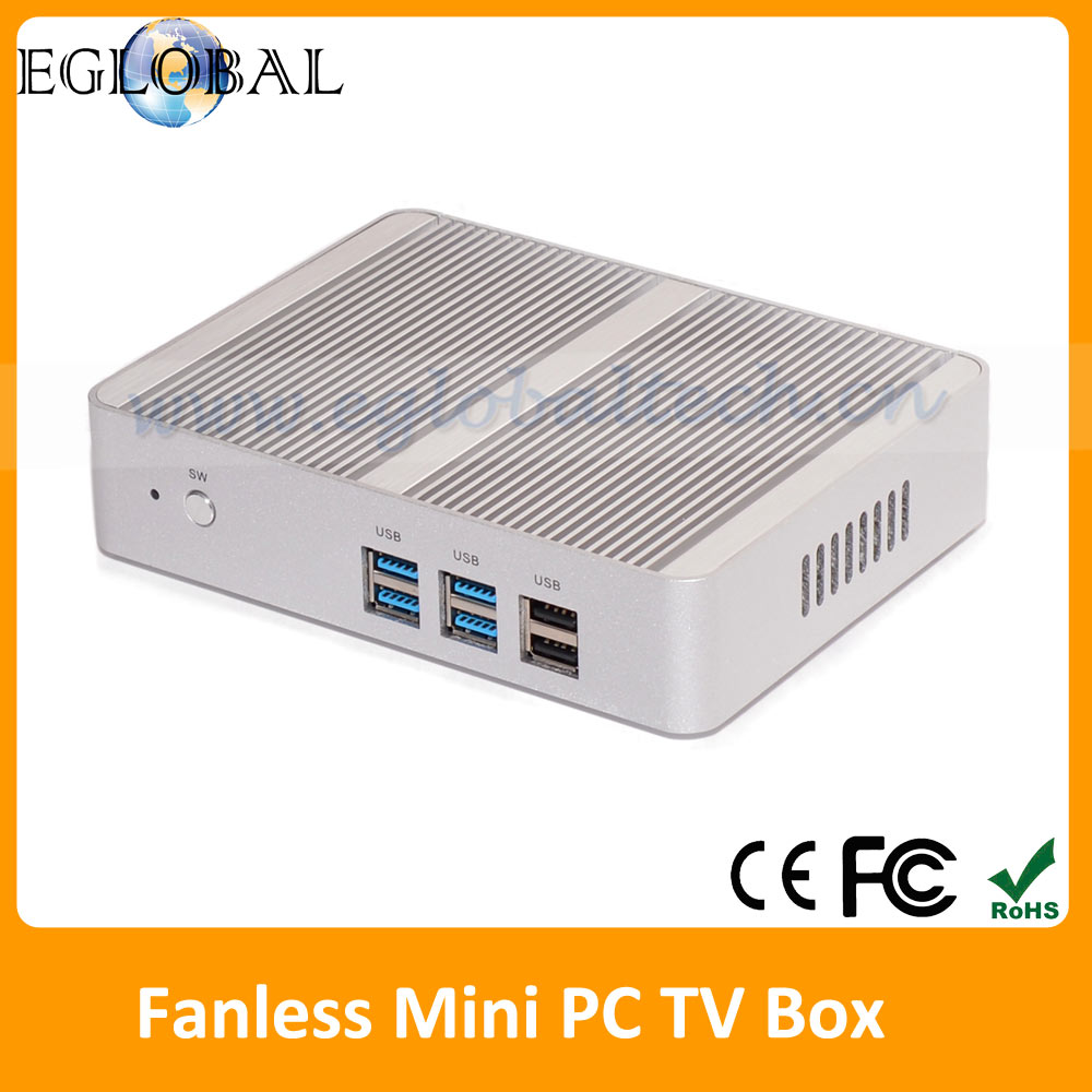 Eglobal Powerfull Alll In One Fanless Mini Pc Intel Celeron N3050 8GB RAM 16GB SSD Linux Windows10 Mini pc 12V HDMI+VGA In China(China (Mainland))