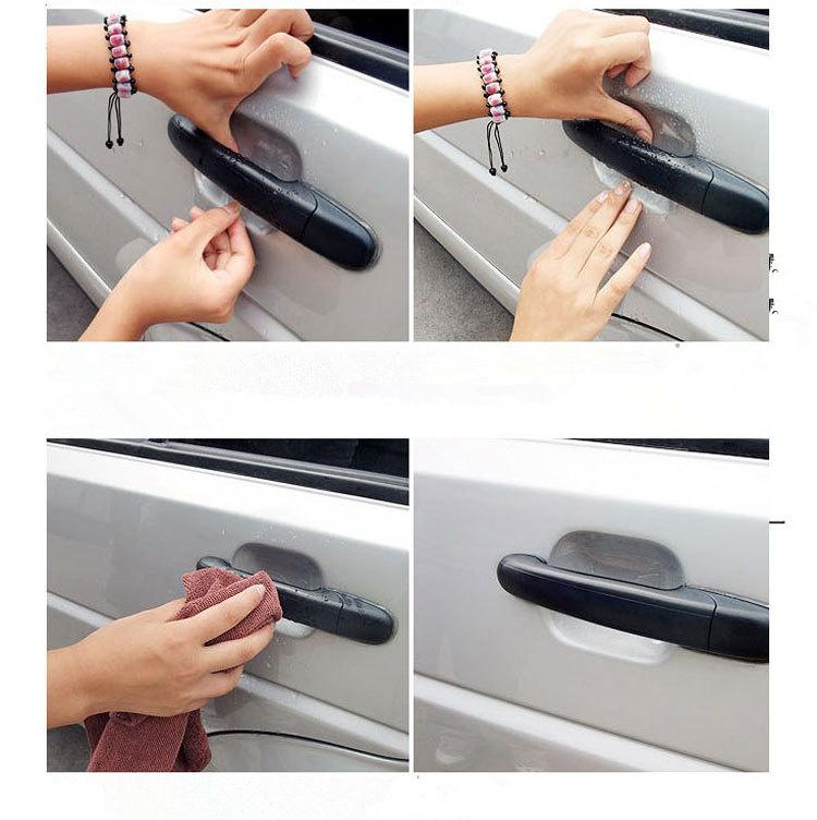 Car Door Handle Scratches Protective Invisible Films car Vinyl Protector 4pcs