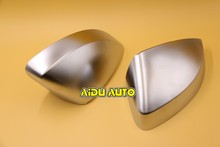 Buy 1 pair Audi A3 S3 8V matt Silver chrome aluminum Satin finish mirror case rear view mirror cover shell for $79.99 in AliExpress store