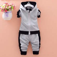 Spring Newborn Suits Baby Boys Brand Suits Fashion Sports Kids T Shirt+Pants Suits Children Clothes 2016 New Arrival