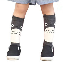 Toddler New Totoro Design Knee High Baby Socks Girls Boys Fall Winter Leg Warmers Fox Socks Knee Pad Meia(China (Mainland))