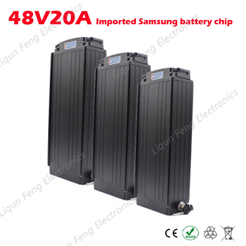Imported Samsung 18650 batteries thick hanger style battery chip electric bike battery 48v 20ah box power lithium battery(China (Mainland))