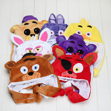 Buy 7styles FNAF Five nights freddy plush toys cosplay cap hat cosplay freddy chica foxy bear plush stuffed toys fnaf plush toys for $4.84 in AliExpress store