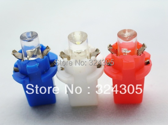 2014 NEW 2X T5 B8.3D 1 LED boat bulb Instrument lamp speed table console light bulb white red blue(China (Mainland))