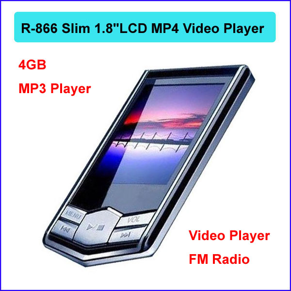 8GB Slim 1.8 inchLCD MP3 MP4 Player Video+, FM radio, Video, Music mp3 players, Games, Photo, E-book, Voice gift R-866