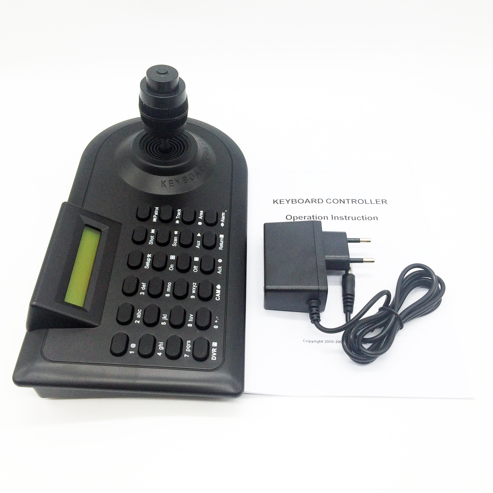 DHL Free ! CCTV Camera PTZ Keyboard Controller LCD Screen Surveillance 4-Axis Joystick RS-485 For AHD High Speed PTZ Dome Camera(China (Mainland))