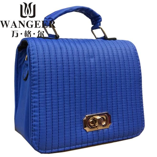 2014 New fashon stylish stereotypes vertical stripes bag free shipping pink black white blue purple 132(China (Mainland))