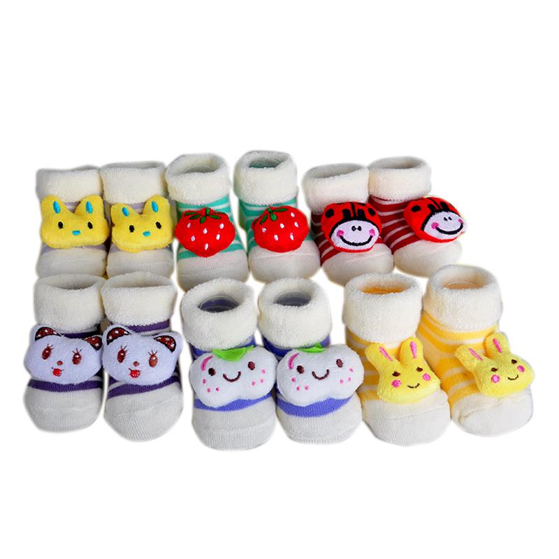 2016 Novel One Coulple Baby Socks Newborn 100% Cotton Animal Socks Infant Winter boys girls Socks & Leg Warmers(China (Mainland))
