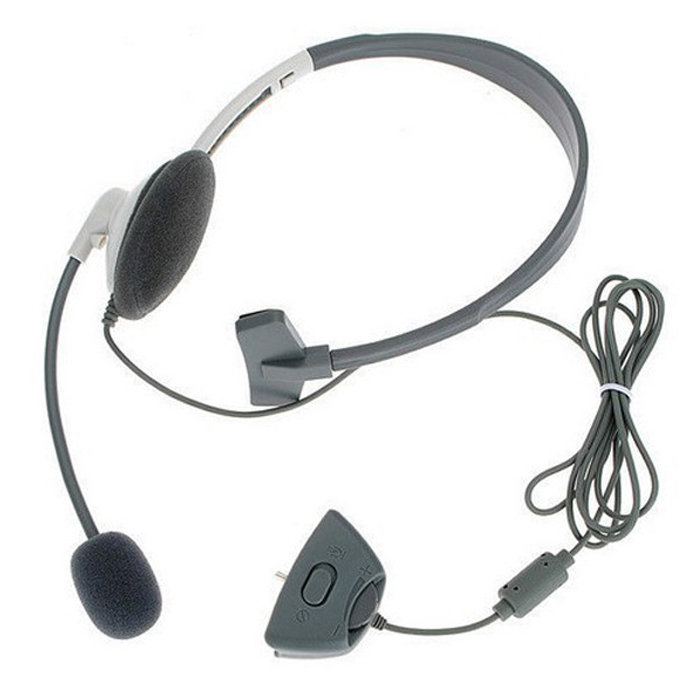 Headset Headphone Microphone for Microsoft Xbox 360 Live Gaming Chat Online Mic # F2024(China (Mainland))