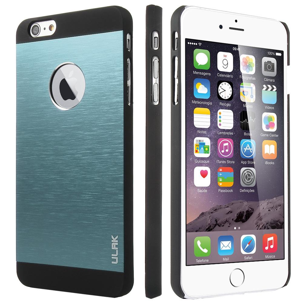 ULAK Luxury Brushed Aluminum Steel Chrome Protective Hard Case Cover For Apple iPhone 6 Plus 5.5 inch(China (Mainland))