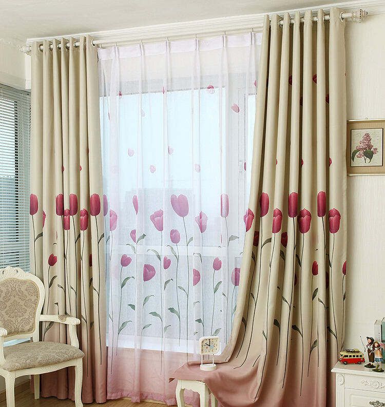 Rustic Window Curtains For Living Room Blackout Curtain+Tulle150*250cm ...