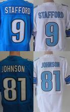 SexeMara men's 9 Matthew Stafford 20 Barry cheap Sanders 81 Johnson jersey Best Quality size M L XL XXL XXXL(China (Mainland))