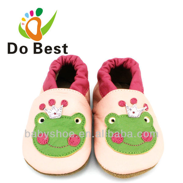 Dobest Brand Frog Pattern Leather Soft Baby Kids Toddler Shoes Moccasins For Girls First Walkers New 2014 Autumn Spring<br><br>Aliexpress