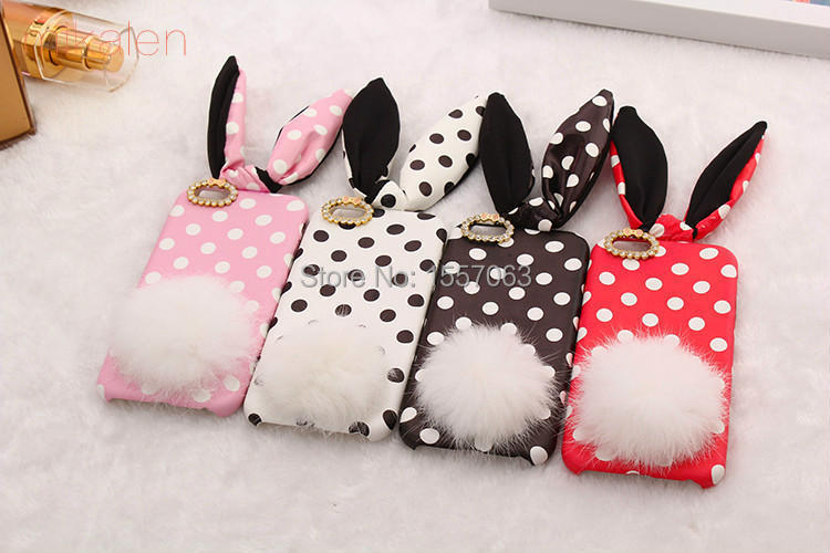 2015 New Fashion Lovely Rabbit Ear Wave Point 4 Colors Iphone6 Cell Phones Case Cover Case For Iphone 6 4.7 Inch(China (Mainland))