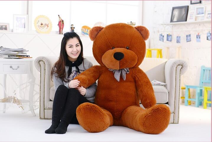 Big Teddy Bear brown 220cm super giant toy huge large plush toys children soft kid children baby doll big stuffed animals gift(China (Mainland))