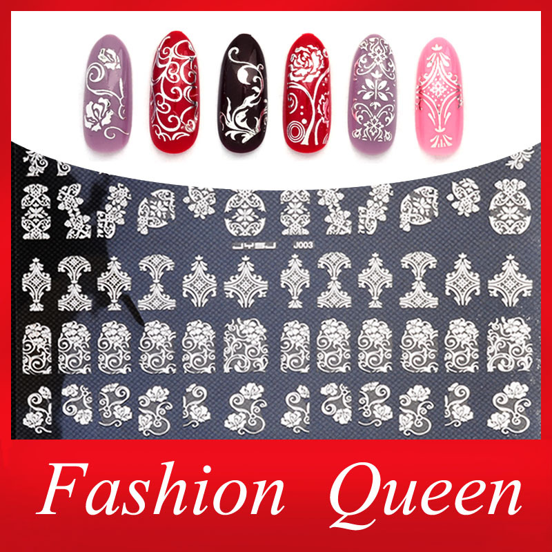 New Arrival Silver 3D Nail Art Stickers Decals,108pcs/sheet Stylish Metallic Mixed Designs Nail Tips Accessory Decoration Tool(China (Mainland))